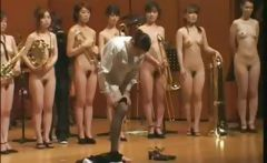Weird Japanese Oddity Of A Naked Orchestra Playing upon Stage